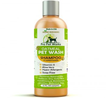 Pro Pet Works Hypoallergenic Organic Oatmeal and Aloe Cat-Dog Shampoo