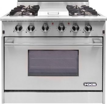 drgb3601 36u201d prostyle gas range with 4 sealed burners btu infrared griddle 52 cu ft manual clean convection oven and infrared broiler in