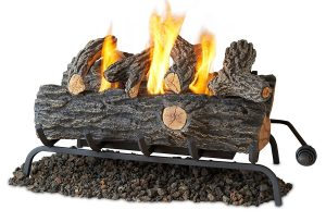 "Real Flame 24 "" Convert-to-Gel Log Set In Oak"
