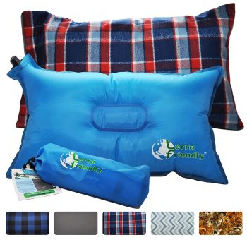 Self Inflating Travel Pillow with Premium Camping Pillow