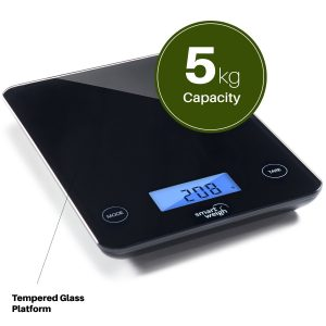 Smart Weigh Digital Glass Top Kitchen and Food Scale