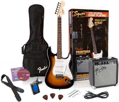 Squier by Fender Affinity Stratocaster Beginner Electric Guitar Pack