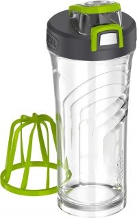 THERMOS Shaker Bottle with Integrated Stationary Mixer