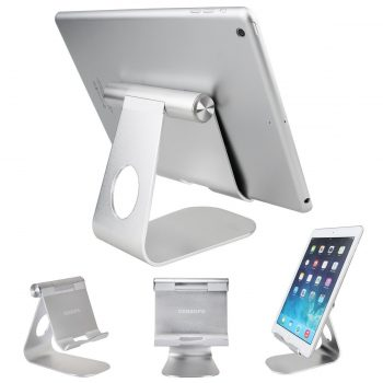 Tablet Stand Holder , Oenbopo 270° Rotatable Aluminum Desktop Tablet Holder Stand for iPad Pro iPad Mini iPad