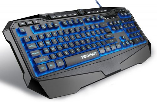 TeckNet Gryphon LED Illuminated Programmable Gaming Keyboard