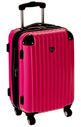 Travelers Club Luggage Chicago 20 Inch Expandable Carry-On Spinner