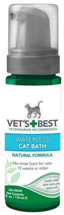 Vet's Best No-Rinse Clean Waterless Cat Shampoo. Natural Formula