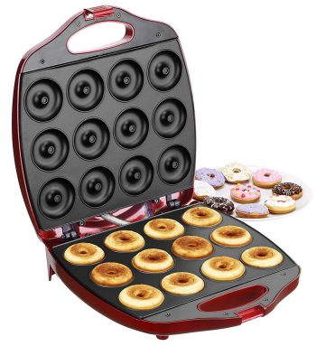 VonShef Deluxe 12 Hole Electric Mini Donut Maker Snack Machine