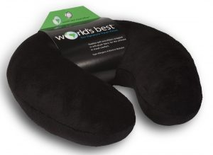 World's Best Microfiber Neck Pillow (Black)