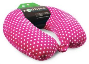 World's Best Microfiber Neck Pillow (Pink)