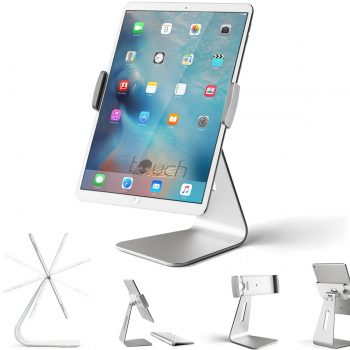 iPad Pro Tablet Holder Stand, Stouch 360° Rotatable Aluminum Alloy Desktop Holder Tablet Stand for Samsung Galaxy Tab