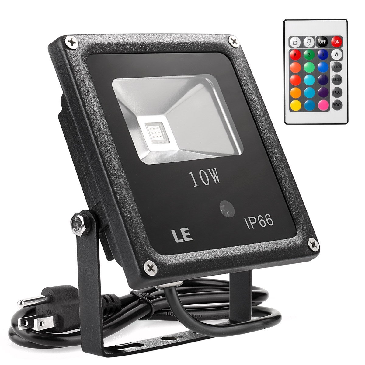 Lightning EVER LED Flood lights, Remote-Control 10-Watt Flood Light
