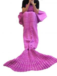 Kpblis Knitted Mermaid Tail blanket