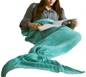 Hughapy knitted Mermaid Tail Blanket