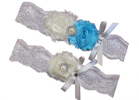 Ivory Beach Wedding Garter belt