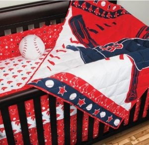MLB Boston Red Sox Crib Bumper Baseball Bedding