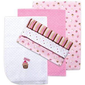 Luvable Friends pink receiving blankets