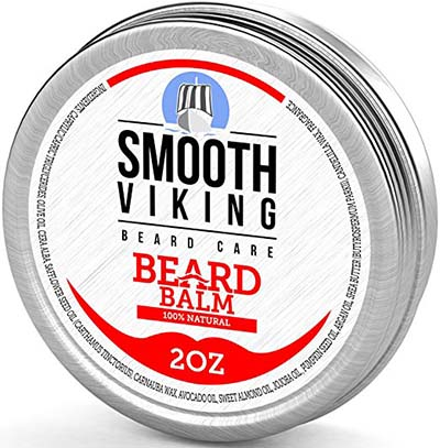1. Smooth Viking 2oz 100% Natural Beard Balm - Best Beard Wax