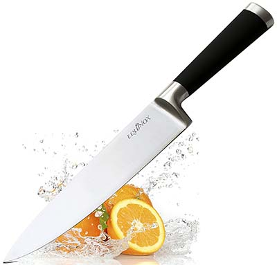 10. Equinox International 8 Inch Professional Chef Knife with Protective Bolster