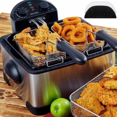 2. Secura 4.2L/17-Cup Electric Deep Fryer with Timer