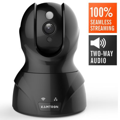 3. KAMTRON Black Wireless Security Camera