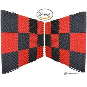 IZO All Supply Soundproofing RED CHARCOAL Acoustic Eggcrate
