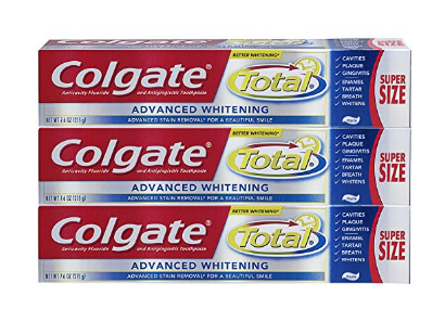 Colgate Total Advanced Whitening Paste Toothpaste 7.6oz 3 pack