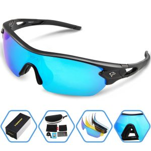 TOREGE Polarized Interchangeable Lens Sports Sunglasses