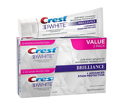 Crest 3D White Brilliance, Fluoride Anticavity Teeth Whitening Toothpaste