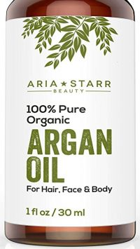 Aria Starr Beauty ORGANIC Argan Oil For Hair, Skin, Face, Nails, Beard