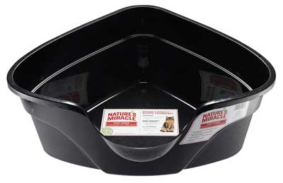 3. Nature's Miracle Advanced High Sided Corner Litter Box