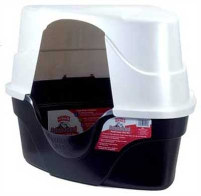 5. Nature's Miracle Corner Hooded Litter Box