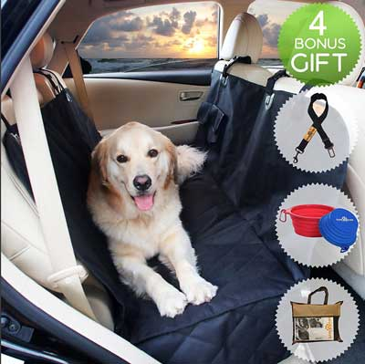 2. BarknPurr Perfect Pet Waterproof Rear Seat Protector