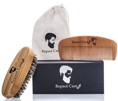 Beard Brush and Beard Comb kit for Men