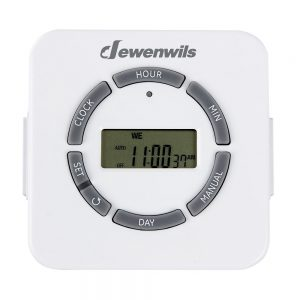 Dewenwils Indoor Plug in Timer Outlet 7 Day Programmable Digital Timer