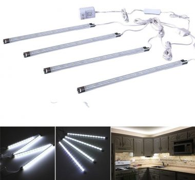 Efrank Set of 4 LED Light Bar-Under Kitchen Cabinet Led Lamp