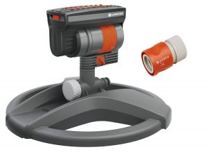 GARDENA ZoomMaxx Sprinkler on a Weighted Sled Base