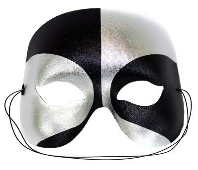 Masquerade Black-Silver Masquerade Mask for Men
