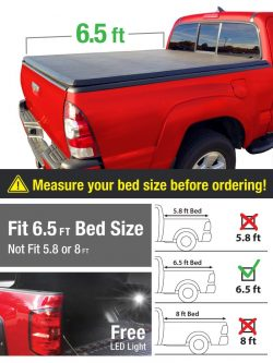 Premium TCD371011 Tri-Fold Tonneau Bed Cover (truck bed covers)