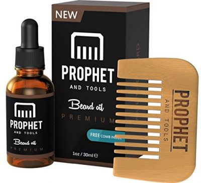 Prophet and Tools 30ML Men's Beard Oil and Comb Kit