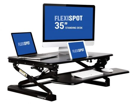 "FlexiSpot 35"" Wide Platform Height Adjustable Standing Desk Riser"
