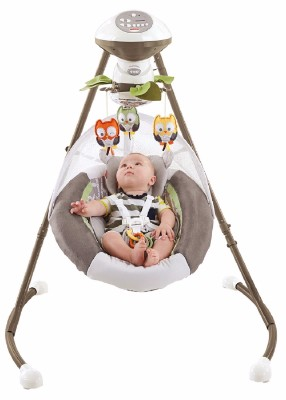 #1 Fisher-Price My Little Snugabear Cradle 'N Swing