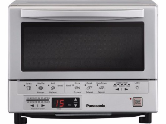 #1 Panasonic NB-G110P Flash Xpress Toaster Oven, Silver