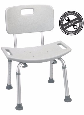 1 - Tool-Free Spa Bathtub Adjustable Shower Chair