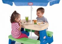 #2 Little Tikes Easy Store Junior Picnic Table with Umbrella