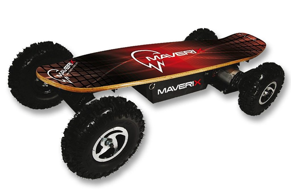 Maverix USA Border X 800W Skateboard, Red, 42-Inch