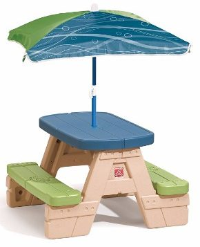 #3 Step2 Sit and Play Picnic Table with Umbrella