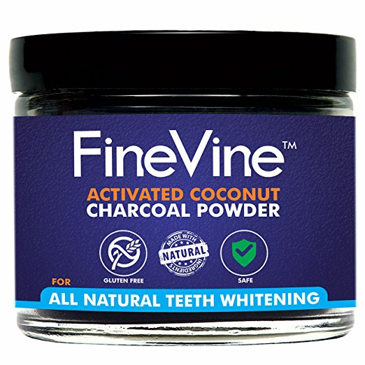 All Natural Teeth Whitening Powder - Made in USA with Coconut Activated Charcoal