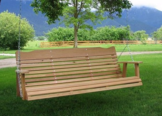 #5 5' Natural Cedar Porch Swing, Amish Crafted