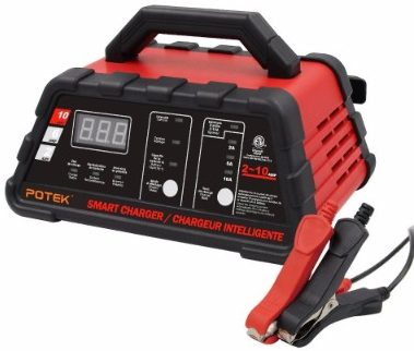 #5 Potek 2/6/10 Amp Smart Battery Charger and Maintainer